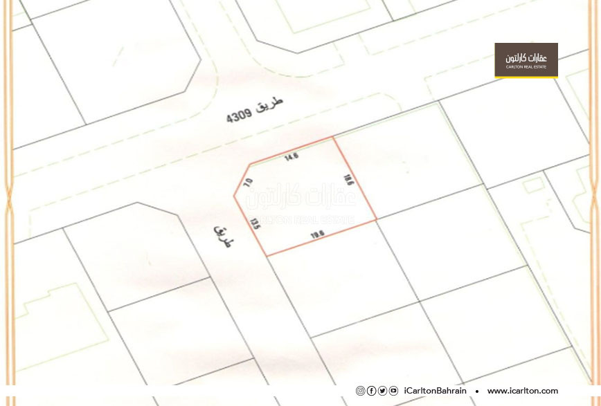 Residential land to build a three-storey villa