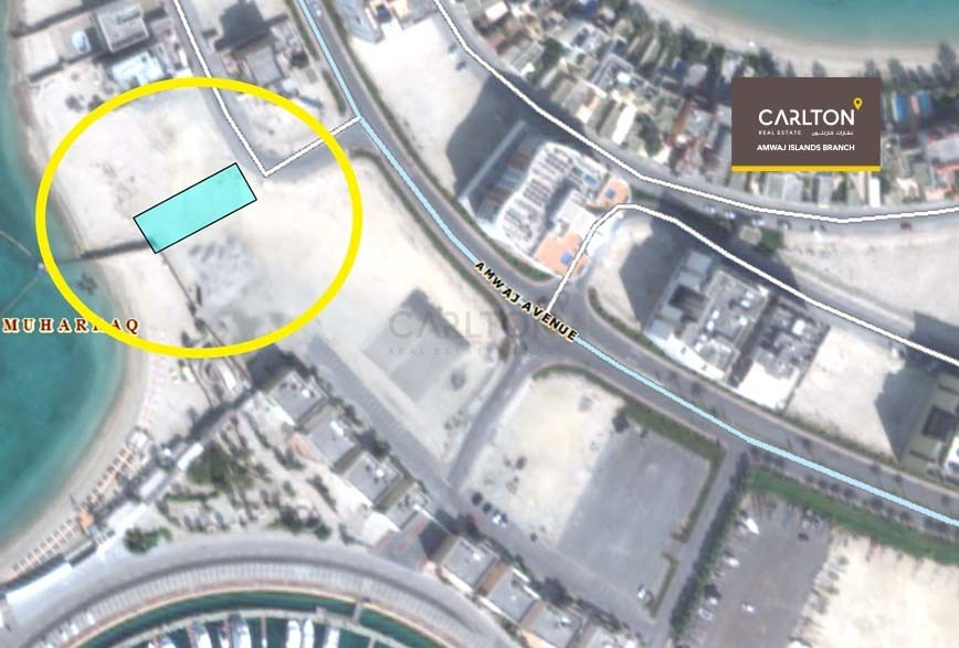 Best price for beach front land in Amwaj