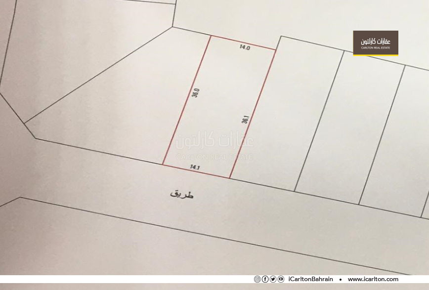 Land suitable to build a residential villa
