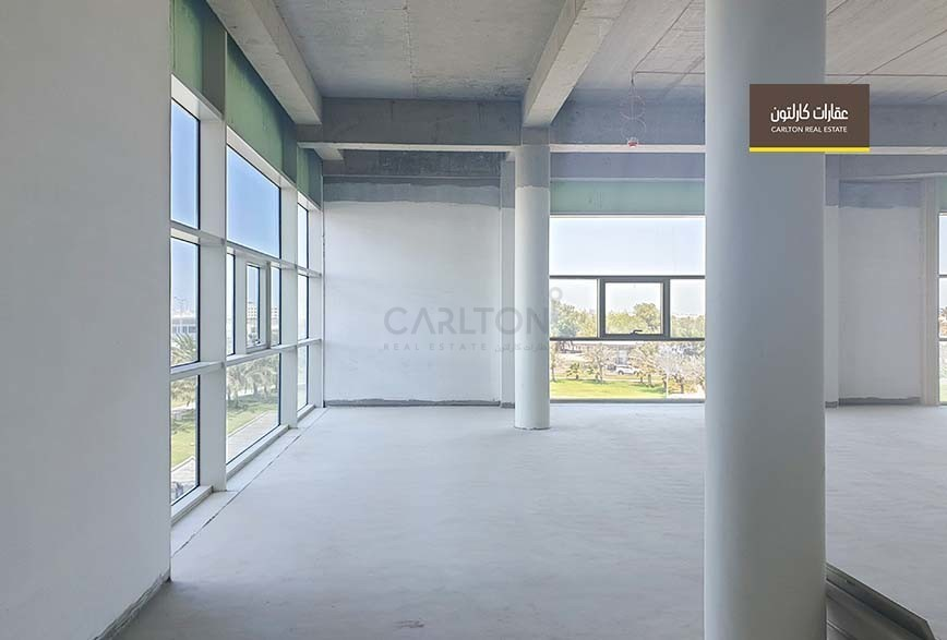 A spacious and well illuminated office space