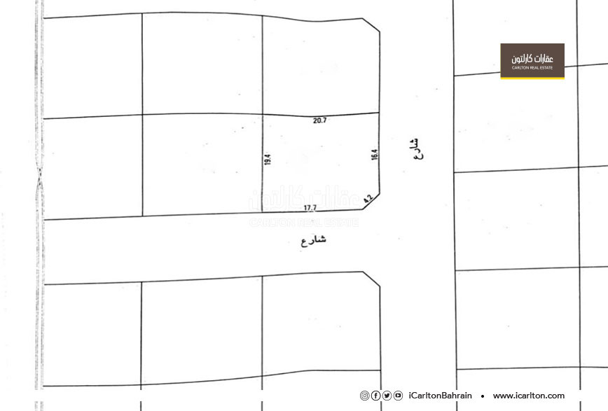 Investment land in two corner streets in Hidd
