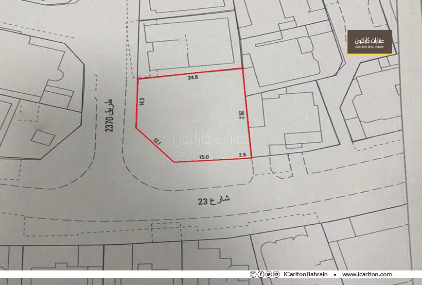 Residential land on two corner streets in Saar *