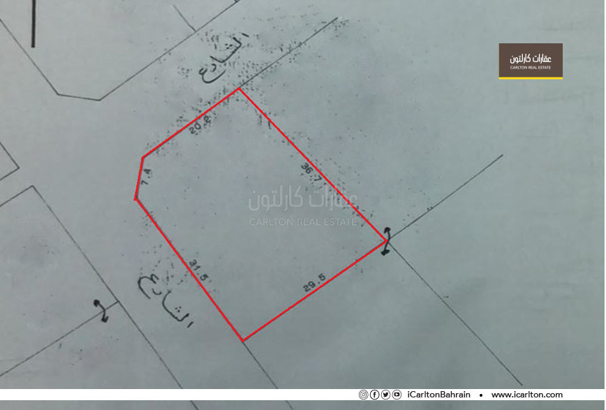Residential land in two corner streets - Riffa