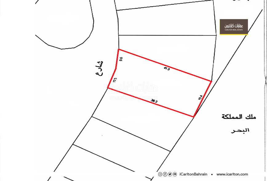 For sale residential land on the open sea Amwaj