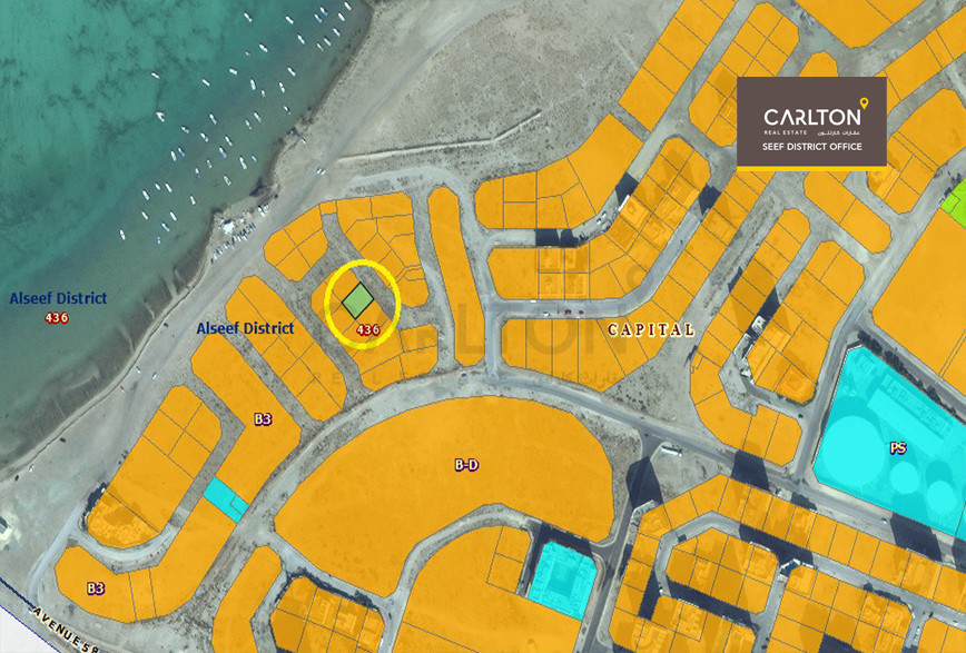 Commercial Investment Land in Seef Area*