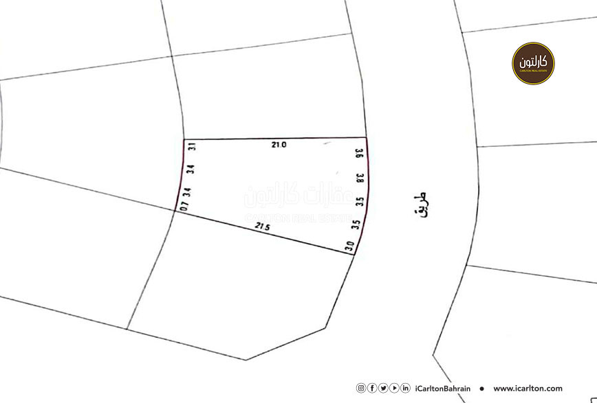 Residential land for sale, located in Sitra area