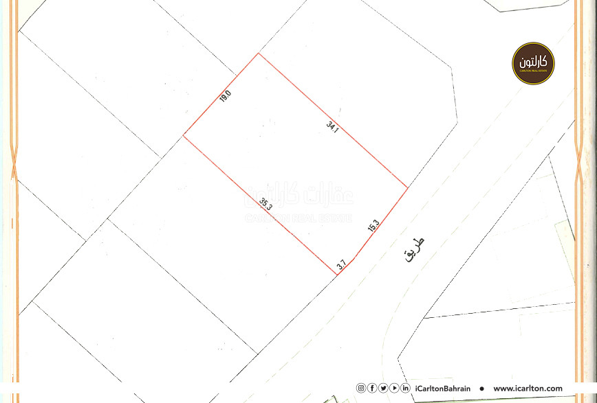 Residential land for sale located in Jeblat Hebshi